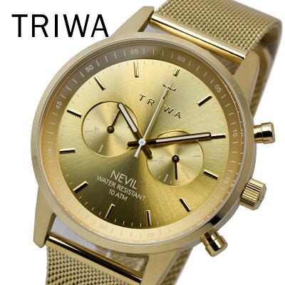 TRIWA トリワ NEST104 ME021313 GOLD NEVIL 2.0 メンズ レディース ユニセックス 時計 腕時計 プレゼント 贈り物 ギフト 彼氏 フォーマル カジュアル ペアウォッチ 北欧[あす楽]