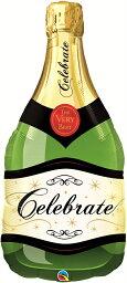 シャンパンボトルバルーン 送料無料 ヘリウムガス入り NEWシャンパンボトル シャンパン型バルーン 風船 バルーン 誕生日 数字 結婚式 出産祝い