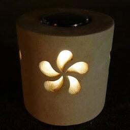 パラスストーン ライト プルメリア パラスストーン LEDソーラーライト 20cm ASIANTIQUE ORIGINAL