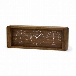 温湿時計 \キャッシュレス5%還元/ 【送料無料】LemnosレムノスYoKanヨウカンLC11-06 BWブラウン置時計温湿時計