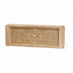 温湿時計 \キャッシュレス5%還元/ 【送料無料】LemnosレムノスYoKanヨウカンLC11-06 NTナチュラル置時計温湿時計