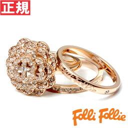 フォリフォリ 指輪 フォリフォリ Folli Follie リング 52号(日本サイズ約12号) Winter Dream SANTORINI FLOWER RING 3R15T024RC52【あす楽対応】【即納可】