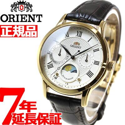 【20日はニールがお得!最大3000円OFFクーポン!さらに店内ポイント最大40倍!】オリエント ORIENT クラシック CLASSIC 腕時計 レディース サン&ムーン RN-KA0002S