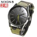 ニクソン 腕時計(メンズ) ニクソン NIXON セントリーレザー SENTRY LEATHER 腕時計 メンズ BLACK / CAMO / VOLT NA1053054-00