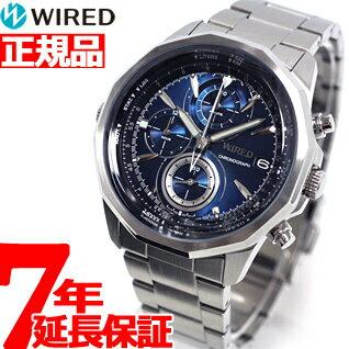 【クーポンで最大2000円OFF!さらに、エントリーでポイント最大4倍!19日23時59分まで】セイコー ワイアード SEIKO WIRED 腕時計 メンズ THE BLUE ザ・ブルー SKY クロノグラフ AGAW419