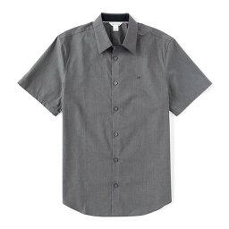 カルバン・クライン カルバンクライン メンズ シャツ トップス Poplin Stretch Short-Sleeve Woven Shirt Dark Cliff Heather
