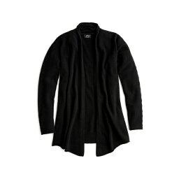 ジェイクルー ジェイクルー レディース ニット&セーター アウター J.Crew Open Front Cashmere Cardigan (Regular & Plus Size) Black