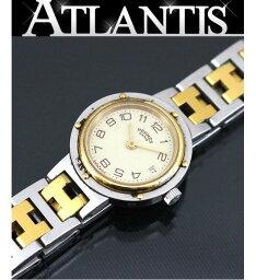 エルメス クリッパー 腕時計(レディース) エルメス HERMES クリッパー腕時計 クォーツ ステンレススチール ベージュ系
