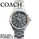 コーチ 腕時計(メンズ) コーチ COACH 腕時計 腕時計 メンズ アウトレット ステンレススティール/ミネラルガラス W5020 BLK ブラック コーチ COACH メンズ MMM