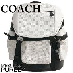 コーチ ★全品ポイント2倍★コーチ COACH バッグ リュック・デイパック メンズ メンズ アウトレット PVCレザー F57477 HABK チョーク×ブラック コーチ COACH メンズ MMM