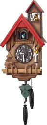 鳩時計 鳩時計 カッコーチロリアンR 4MJ732RH06 ハト時計 リズム時計 カッコー時計 カッコークロック 名入れ はと時計 振り子時計