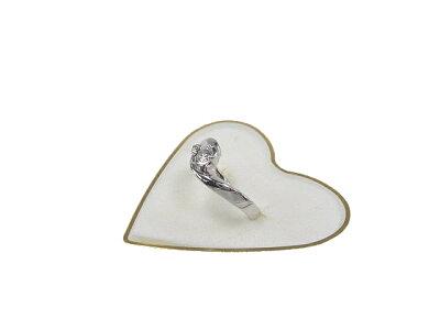 :4℃ ダイヤモンド リング K18 WG 指輪【新品同様】