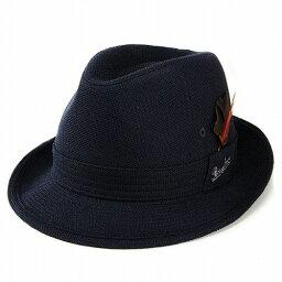 ボルサリーノ Borsalino 中折れハット メンズ ボルサリーノ つば広 ワイドブリム型ニューレスコー中折れハット ダークネイビー [fedora](中折れ帽子 メンズハット 夏 紳士帽子 40代 50代 60代 70代 ファッション つば広ハット ワイドブリムハット プレゼント ブランド帽子 中央帽子)