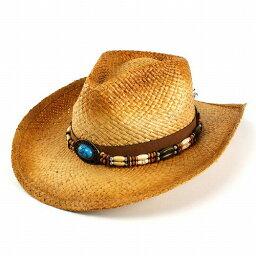 テンガロンハット 帽子 メンズ テンガロンハット ターコイズのビーズ巻き ストローハット ラフィア 麦わら帽子 ヘンシェル (ハット ストロー レディース 紐 夏 HAT テンガロン 大きいサイズ 紳士帽子 ウエスタンハット 中折れハット カウボーイ カウボーイハット ラフィアハット 中折れ帽子)