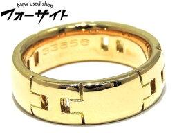 エルメス ヘラクレス 指輪(レディース) 新品同様 HERMES エルメス☆#8(48)K18YG イエローゴールド ヘラクレス リング▼レディース 指輪 H29B