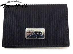 ブルガリ 名刺入れ(メンズ) ブルガリ■ミレリゲ キーケース 名刺入れ∞ブラック BVLGARI メンズ レディース 兼用デザイン ストライプ