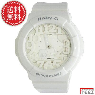 【全品ポイント2倍】CASIO Baby-G baby-g ネオンダイアルベイビージー Neon Dial Series BGA-131-7B Baby-G 白 ベビーG ホワイト【あす楽】送料無料】