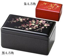 会津塗りオルゴール宝石箱 オルゴール付宝石箱 桜 黒8.0引出し付