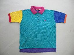 ブルックスブラザーズ 80'sブルックスブラザーズクレイジーパターン鹿の子ポロシャツM