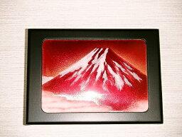 七宝焼 赤富士 七宝焼 小物入れ大 赤富士