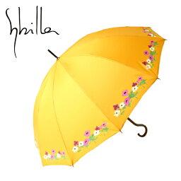 シビラ 傘(レディース) シビラ ブランド傘 高級百貨店雨傘 傘 かさ カサ レディース ブランド おしゃれ レディースファッション 雨傘 花柄 D 12本骨 イエロー