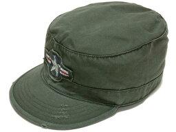 ロスコ ARMY AIR CORPヴィンテージ・ファティーグキャップ(OD) 軍帽子 ミリタリー ROTHCO/ロスコ