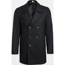 ポールスミス (取寄)ピーエス ポールスミス ウール ダブル ブレステッド コート PS Paul Smith Wool Double Breasted Coat Navy