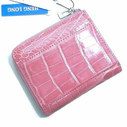 クロコダイル 【新品】HENGLONG☆ヘンローンクロコダイル 小銭入れ ピンク1