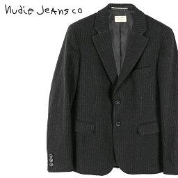 ヌーディージーンズ ■Nudie Jeans ヌーディージーンズ メンズ■ストライプ柄 ウール混 テーラードジャケット【WILHELM/JAPANESE WOOL】【サイズXS〜L】【ブラック】ndj-m-o-83-696 《メーカー希望小売価格73,440円》
