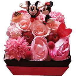 ディズニープリザーブドフラワー ディズニー 花束 箱を開けてサプライズ ミッキー ミニー入り ボックス プリザーブドフラワー入りギフト ノーマル ミッキー ミニー