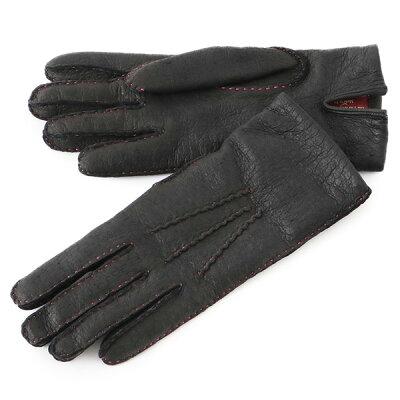 DENTS デンツ 17-1069 SUDELEY ペッカリーレザー グローブ 手袋 手ぶくろ アームウェア カシミア カシミアライニング カラーステッチ カラーBLACK(Rose) レディース