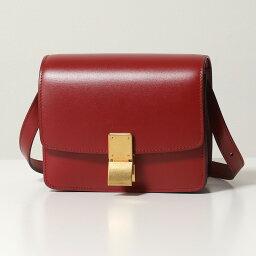 セリーヌ ポシェット CELINE セリーヌ 189183DLS.27OR CLASSIC BOX Small クラシックボックス スモール レザー ショルダーバッグ ポシェット Red 鞄 レディース