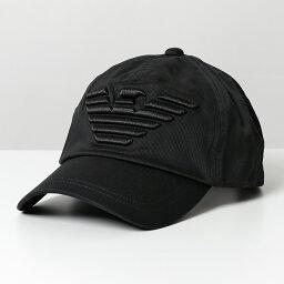 アルマーニ EMPORIO ARMANI エンポリオアルマーニ 627522 CC995 00020/BLACK イーグル立体刺繍 コットン ベースボールキャップ 帽子 メンズ【cp_hat】