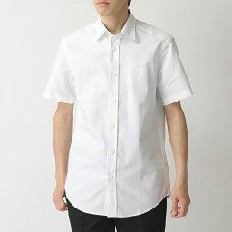 バーバリー BURBERRY バーバリー 8025612 半袖 ワイシャツ オックスフォードシャツ Yシャツ TB刺繍 WHITE メンズ