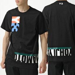 アディダス Y-3 ワイスリー adidas アディダス YOHJI YAMAMOTO FN5727 半袖Tシャツ カットソー コットン クルーネック ロゴ BLACK メンズ