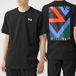 アディダス Y-3 ワイスリー adidas アディダス YOHJI YAMAMOTO FN5721 クルーネック 半袖 Tシャツ カットソー グラフィック×ロゴ BLACK メンズ