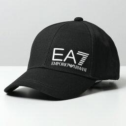 アルマーニ EA7 EMPORIO ARMANI エンポリオアルマーニ 275936 0P010 TRAIN CORE ID M LOGO CAP ベースボールキャップ 帽子 00120/BLACK メンズ【TS_10】