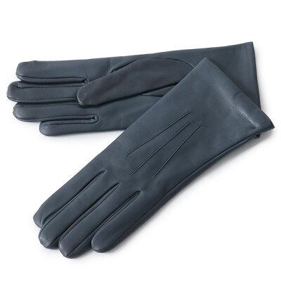 DENTS デンツ 7-1134 ISABELLE レザー グローブ 手袋 手ぶくろ アームウェア カシミア カラーNAVY/ネイビー レディース