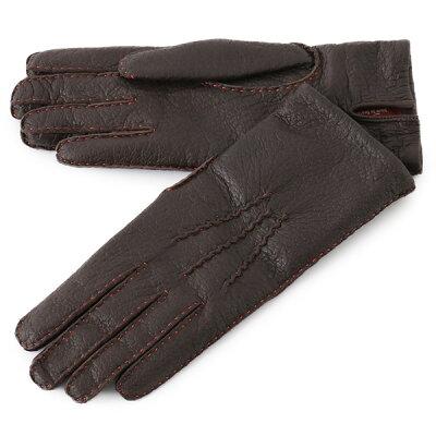DENTS デンツ 17-1069 SUDELEY ペッカリーレザー グローブ 手袋 手ぶくろ アームウェア カシミア カシミアライニング カラーステッチ カラーBARK(Saffron) レディース