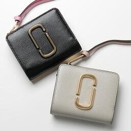 マーク ジェイコブス 革二つ折り財布 レディース MARC JACOBS マークジェイコブス M0014282 カラー2色 レザー 二つ折り財布 ミディアム財布 スモール レディース