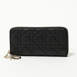 ディオール 長財布(レディース) Dior ディオール S0007 ONMJ 900 LADY DIOR ラウンドファスナー 長財布 900-Noir レディース