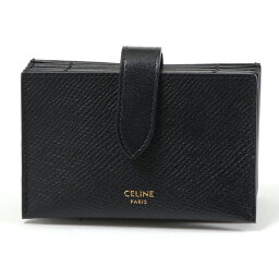 セリーヌ CELINE セリーヌ 10B693BFP.38NO Accordeon Card Holder アコーディオン型 レザー カードケース 名刺入れ Black レディース