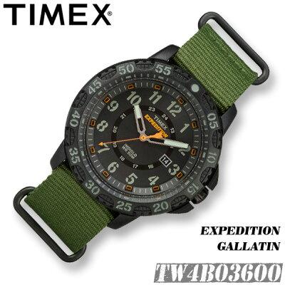 TIMEX【TW4B03600】EXPEDITION GALLATIN 44MM タイメックス エクスペディション ガラティン メンズ クォーツ 腕時計 グリーン ナイロンベルト アウトドア 並行輸入【新品】『宅配便』*送料無料*(北海道・沖縄は一部ご負担)
