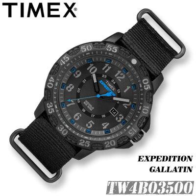 TIMEX【TW4B03500】EXPEDITION GALLATIN 44MM タイメックス エクスペディション ガラティン メンズ クォーツ 腕時計 ブラック ナイロンベルト アウトドア 並行輸入【新品】『宅配便』*送料無料*(北海道・沖縄は一部ご負担)