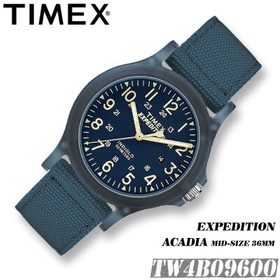 TIMEX【TW4B09600】EXPEDITION ACADIA MID-SIZE 36MM タイメックス エクスペディション アカディア ミッドサイズ 女性 お子様向け 腕時計 ナイロンベルト アウトドア 並行輸入【新品】*送料無料*(北海道・沖縄は一部ご負担)