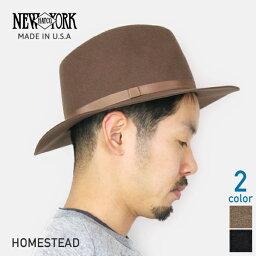 ニューヨークハット NEW YORK HAT ニューヨークハット Homestead つば広 中折れウールハット [全2色] 中折れ帽子 ブラック ブラウン メンズ 男性用 女性用 アメリカ製 フェドラ MADE IN USA #5305 送料無料 楽天 通販 【RCP】