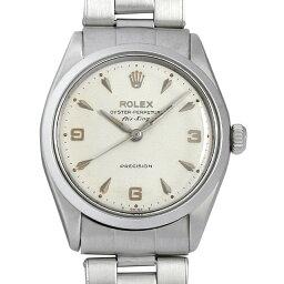 エアキング 腕時計(メンズ) 【48回払いまで無金利】ロレックス オイスターパーペチュアル エアキング Cal.1520 13番 5500 シルバー/クサビ メンズ(006XROAA0098)【アンティーク】【腕時計】【送料無料】