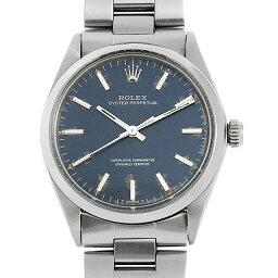 オイスター 腕時計(メンズ) 【48回払いまで無金利】ロレックス オイスターパーペチュアル 1002 ブルー/バー 20番 メンズ(008KROAA0009)【アンティーク】【腕時計】【送料無料】