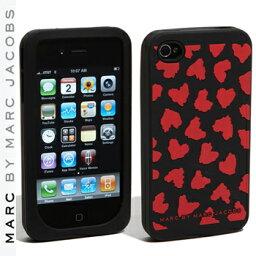 マークバイマークジェイコブス スマホケース 【正規品取扱店】 マーク バイ マーク ジェイコブス iPhone4・4Sケース MARC BY MARC JACOBS 'Wild Hearts' iPhone4・4S cover カラー:レッド