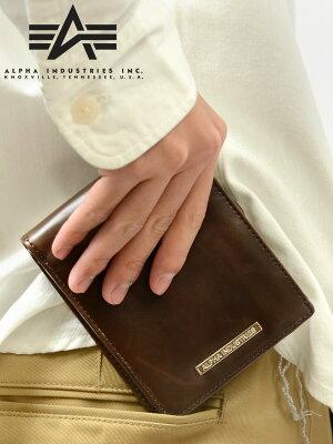 ALPHA INDUSTRIES アルファ 財布 メンズ 2つ折り ショート ウォレット AL-AA008 バレンタインデー ギフト プレゼント ラッピング
